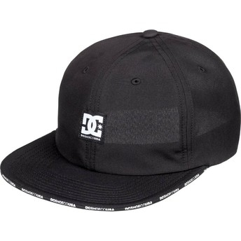 DC Shoes Flat Brim Sandwich Black Adjustable Cap