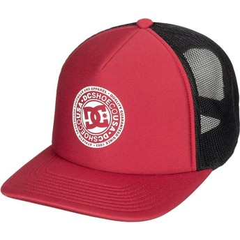 DC Shoes Vested Up Red and Black Trucker Hat