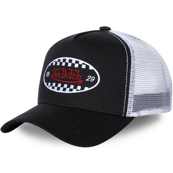 Von Dutch FIN BLA Black and White Trucker Hat