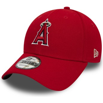 New Era Curved Brim 9FORTY The League Anaheim Angels MLB Red Adjustable Cap