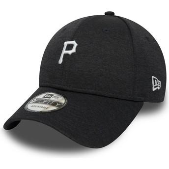 New Era Curved Brim 9FORTY Shadow Tech Pittsburgh Pirates MLB Black Adjustable Cap