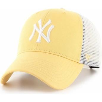 47 Brand MVP Flagship New York Yankees MLB Yellow Trucker Hat