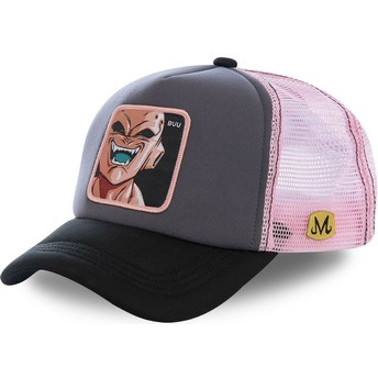 Capslab Kid Buu BUU3M Dragon Ball Grey and Pink Trucker Hat