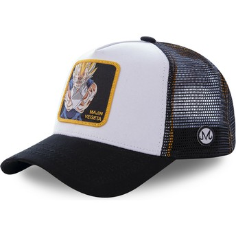 Capslab Majin Vegeta MV4 Dragon Ball White and Black Trucker Hat
