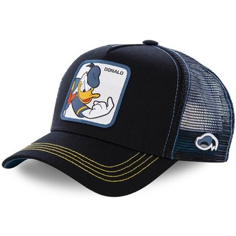 Capslab Donald Duck DON2 Disney Black Trucker Hat