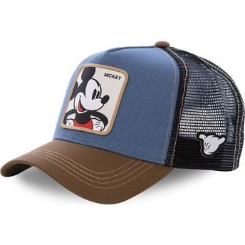 Capslab Mickey Mouse MIC1 Disney Blue, Black and Brown Trucker Hat