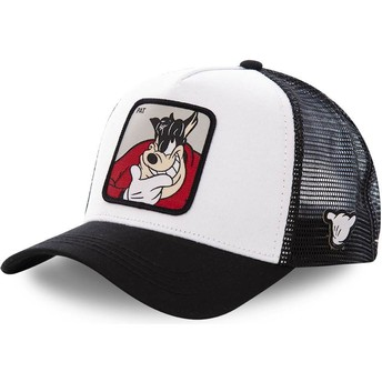 Capslab Peg-Leg Pete PET2 Disney White and Black Trucker Hat
