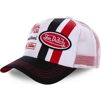 Von Dutch MCQRED White and Red Trucker Hat