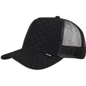 Djinns Louicheck Black Trucker Hat