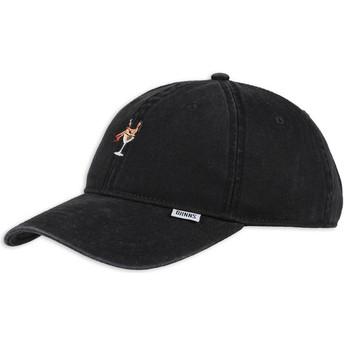 Djinns Curved Brim Coloured Girl Black Adjustable Cap