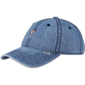 Djinns Curved Brim Coloured Girl Blue Denim Adjustable Cap