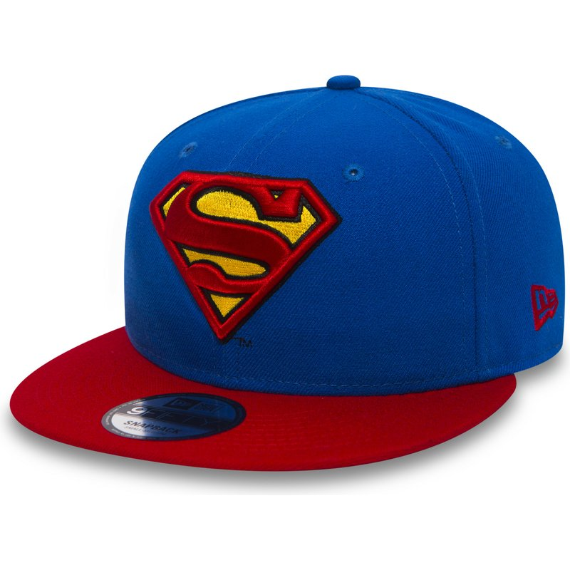 45f24e1f New Era Flat Brim 9FIFTY Team Superman Warner Bros Blue Snapback Cap ...