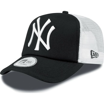 New Era Clean A Frame New York Yankees MLB Black Trucker Hat