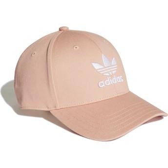 Adidas Curved Brim Trefoil Baseball Pink Adjustable Cap