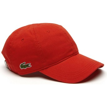 Lacoste Curved Brim Basic Side Crocodile Red Adjustable Cap
