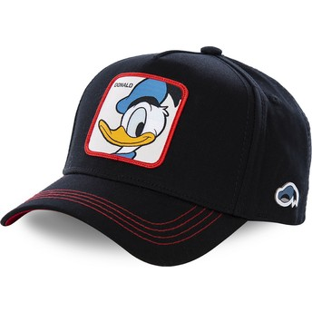 Capslab Curved Brim Donald Duck DUC3 Disney Black Snapback Cap