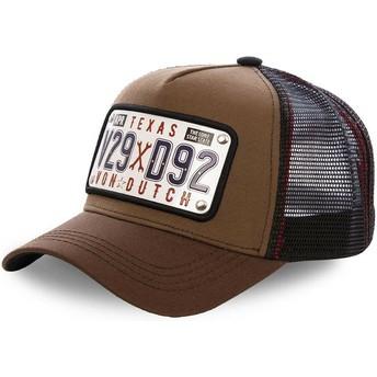 Von Dutch Texas Plate TEX1 Brown Trucker Hat