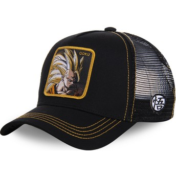 Capslab Son Goku Super Saiyan 3 SAN3 Dragon Ball Black Trucker Hat
