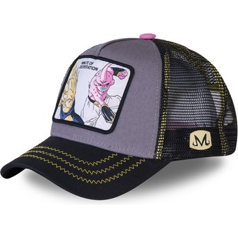 Capslab Vegeta Vs Kid Buu Minute of Desperation DES1 Dragon Ball Grey Trucker Hat