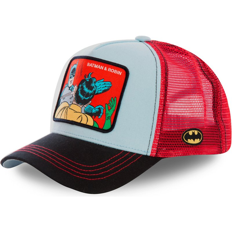 35980dce Capslab Batman & Robin MEM1 DC Comics Blue and Red Trucker Hat: Shop ...
