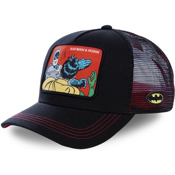 Capslab Batman & Robin MEM2 DC Comics Black Trucker Hat