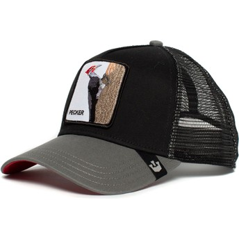 Goorin Bros. Woodpecker Woody Wood Black Trucker Hat