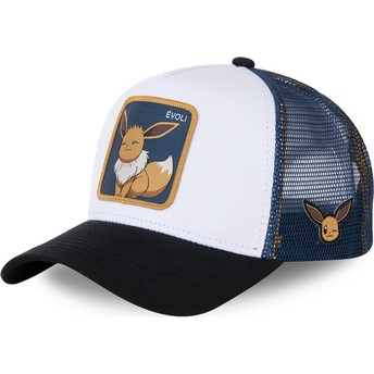 Capslab Eevee EVO3 Pokémon White, Blue and Black Trucker Hat