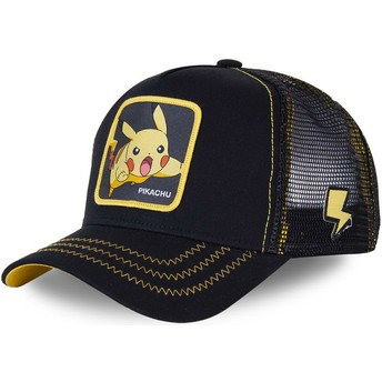 Capslab Pikachu PIK7 Pokémon Black Trucker Hat