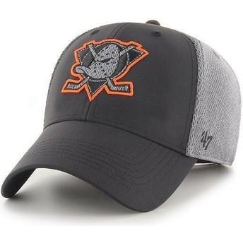 47 Brand Curved Brim MVP Arlo Anaheim Ducks NHL Black Cap