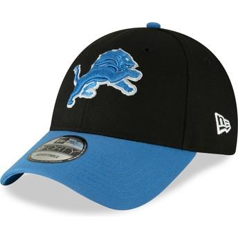 New Era Curved Brim 9FORTY The League Detroit Lions NFL Black Adjustable Cap