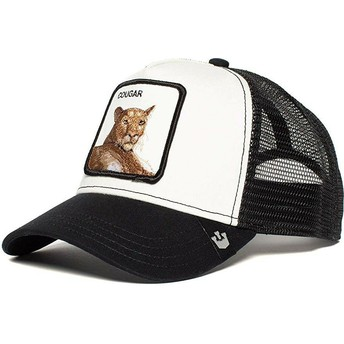 Goorin Bros. Cougar Meow Meow Black and White Trucker Hat