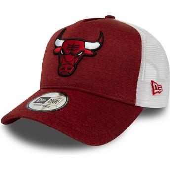 New Era Shadow Tech A Frame Chicago Bulls NBA Red Trucker Hat