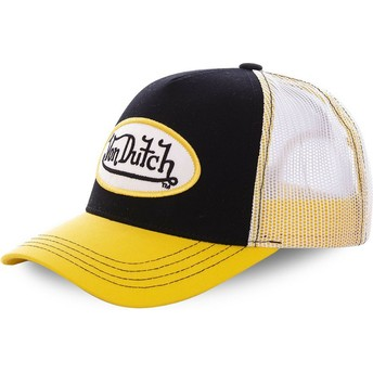 Von Dutch COL BLA Black and Yellow Trucker Hat