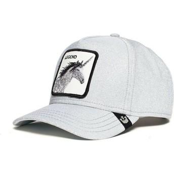 Goorin Bros. Curved Brim Unicorn Believer Grey Glitter Snapback Cap