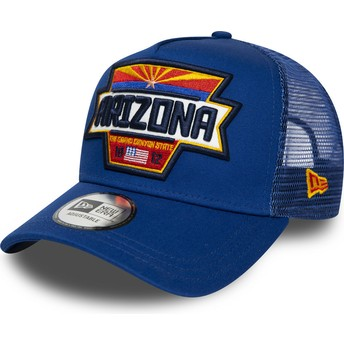 New Era A Frame USA Patch Arizona Blue Trucker Hat