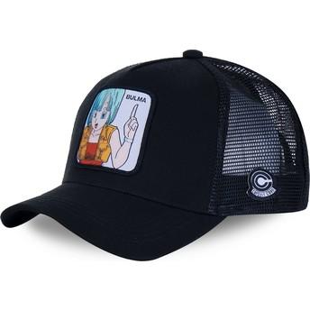 Capslab Bulma BUL2 Dragon Ball Black Trucker Hat