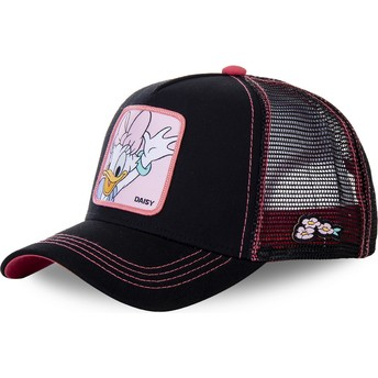 Capslab Daisy Duck DAI2 Disney Black and Pink Trucker Hat
