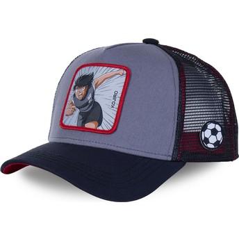 Capslab Kojiro Hyuga HYU Captain Tsubasa Grey and Black Trucker Hat
