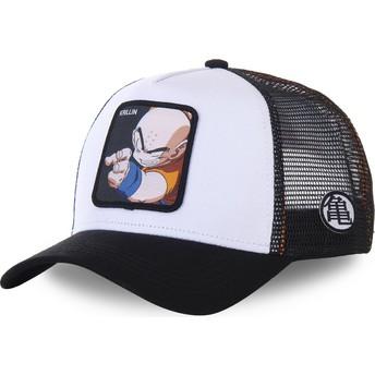 Capslab Krillin KRI Dragon Ball White and Black Trucker Hat