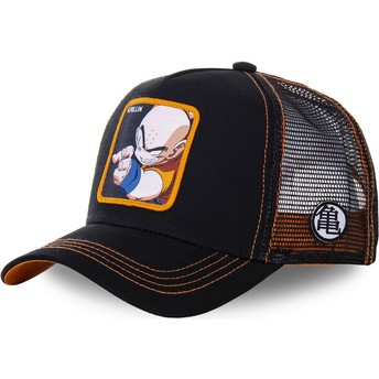 Capslab Krillin KRI4 Dragon Ball Black Trucker Hat