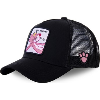 Capslab Pink Panther PANT6 Black Trucker Hat
