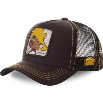 Capslab Speedy Gonzales SPE1 Looney Tunes Brown Trucker Hat