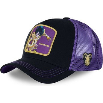 Capslab Capricorn CAP Saint Seiya: Knights of the Zodiac Black and Purple Trucker Hat