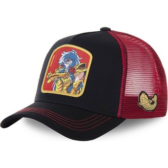 Capslab Pisces PIS Saint Seiya: Knights of the Zodiac Black and Red Trucker Hat