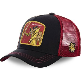 Capslab Sagittarius SAG Saint Seiya: Knights of the Zodiac Black and Red Trucker Hat