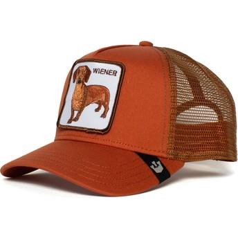 Goorin Bros. Dachshund Dog Weiner Dawg Brown Trucker Hat