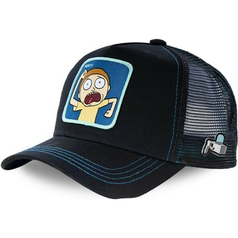 Capslab Morty MOR1 Rick and Morty Black Trucker Hat