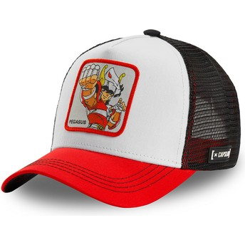Capslab Pegasus Seiya PEG2 Saint Seiya: Knights of the Zodiac White, Black and Red Trucker Hat
