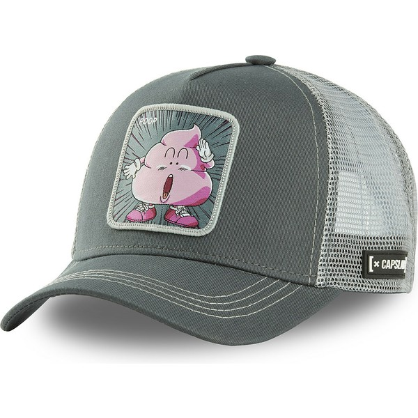 capslab-poop-boy-poo3-dr-slump-grey-trucker-hat