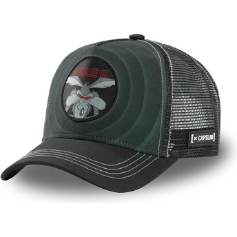 Capslab Wile E. Coyote Bullseye Color Rings WIL2 Looney Tunes Black Trucker Hat